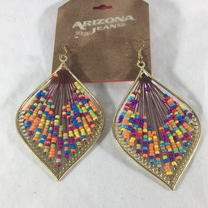 Jewelry - Arizona Jeans Co Colorful Beaded Earrings
